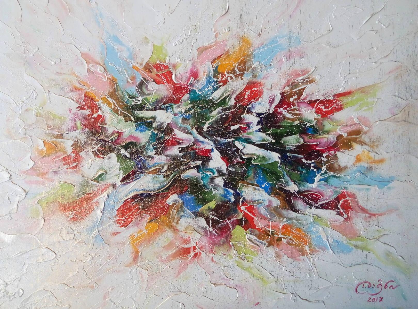 «ყვავილები»  ტილო, ზეთი «Цветы»        холст, масло «Flowers»        oil on canvas  70x50, 2017