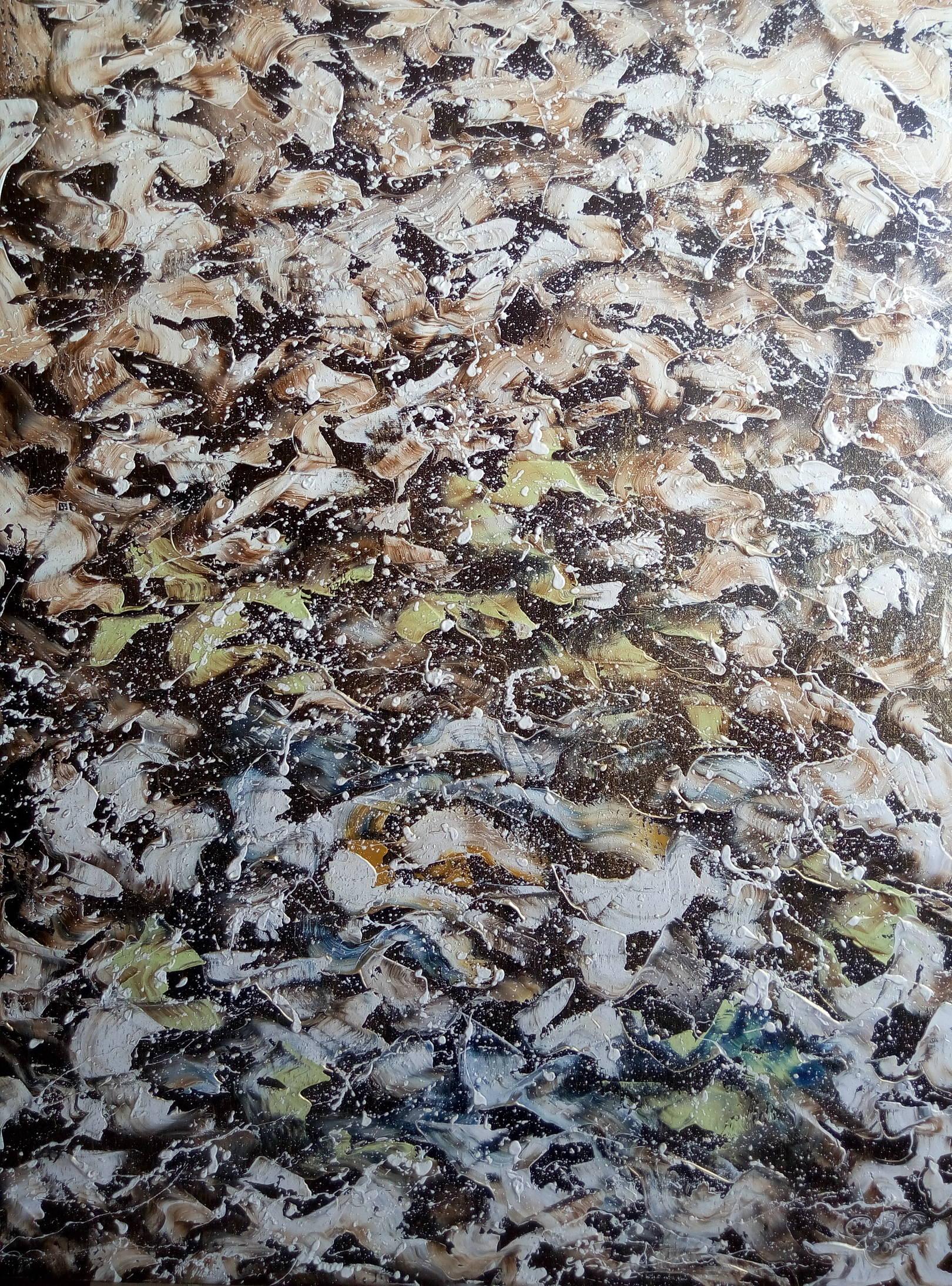 «Размышления в зимний вечер»        холст, масло «Reflections in winter evening»             oil on canvas  90x70, 2017