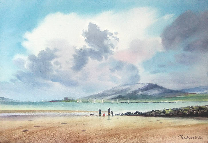 ,,Howth,,Ирландия.Воспоминания о путешествии в рыболовецкий городок.Бум.Artistico+Fabriano 300 гр.38*57 см.2017 г.