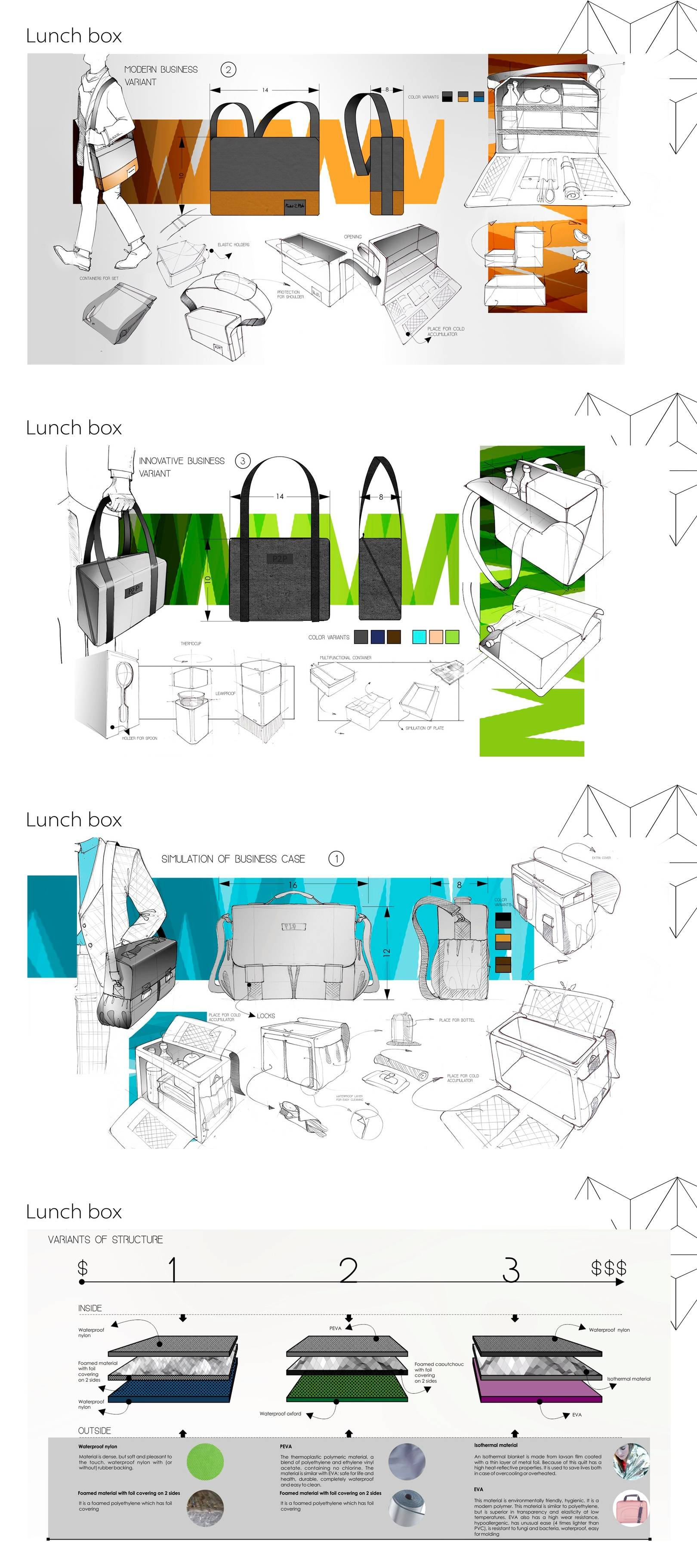 Lunch box for Place2pocket kompany for Miami, USA