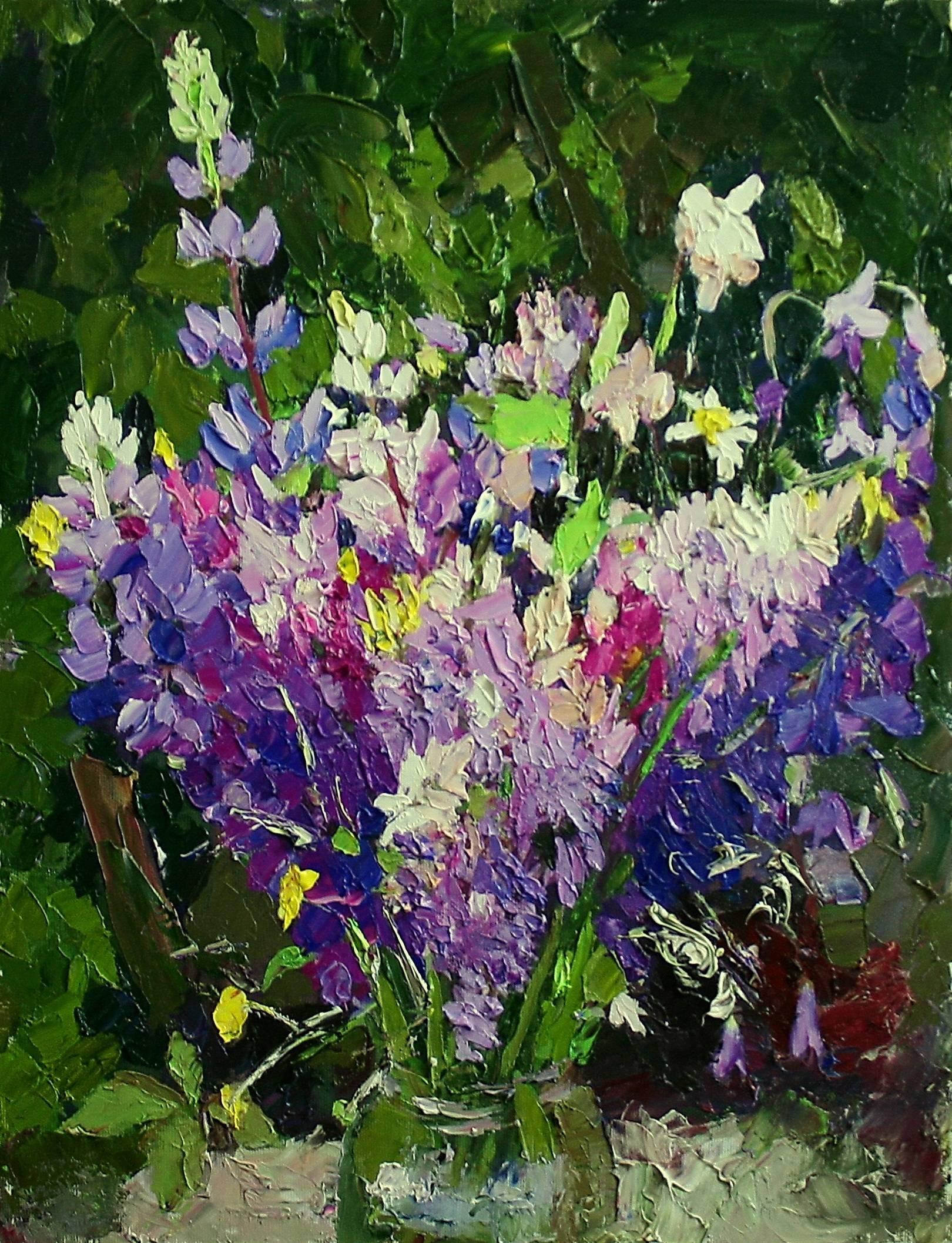 Цветы №19 холст, масло, 44х34