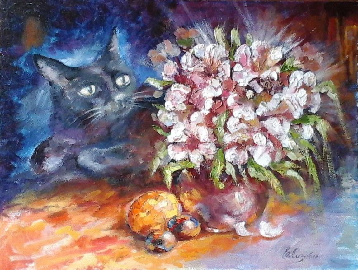 Натюрморт с котярой