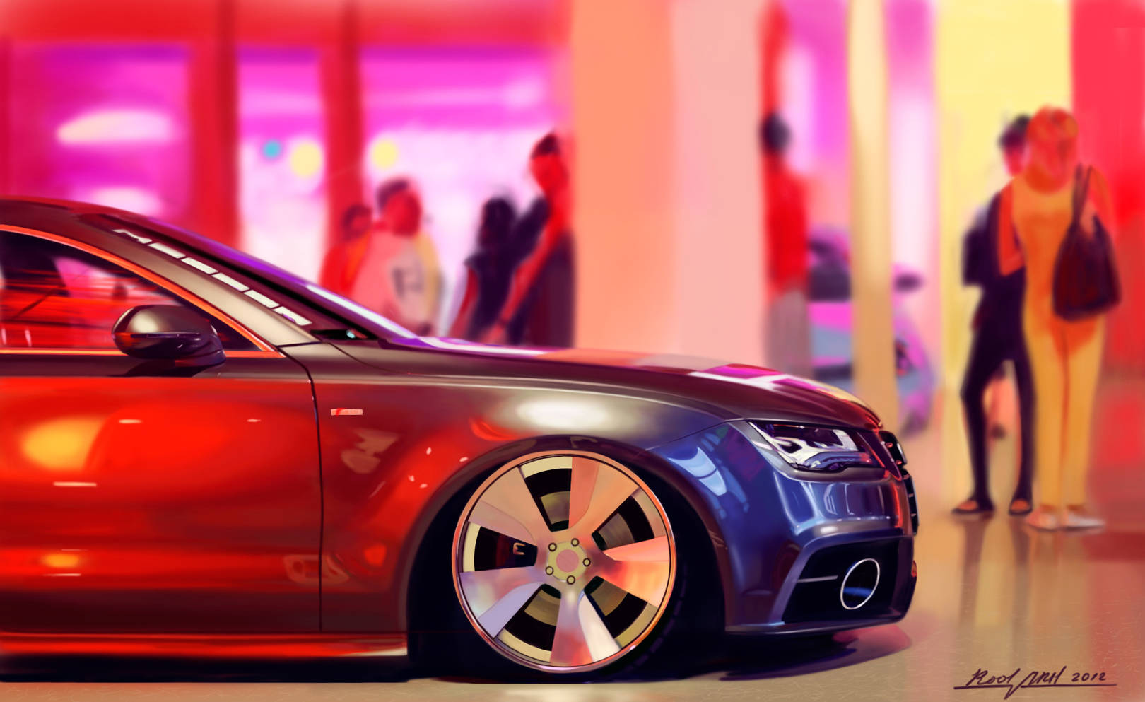 Painting. Audi A7.
