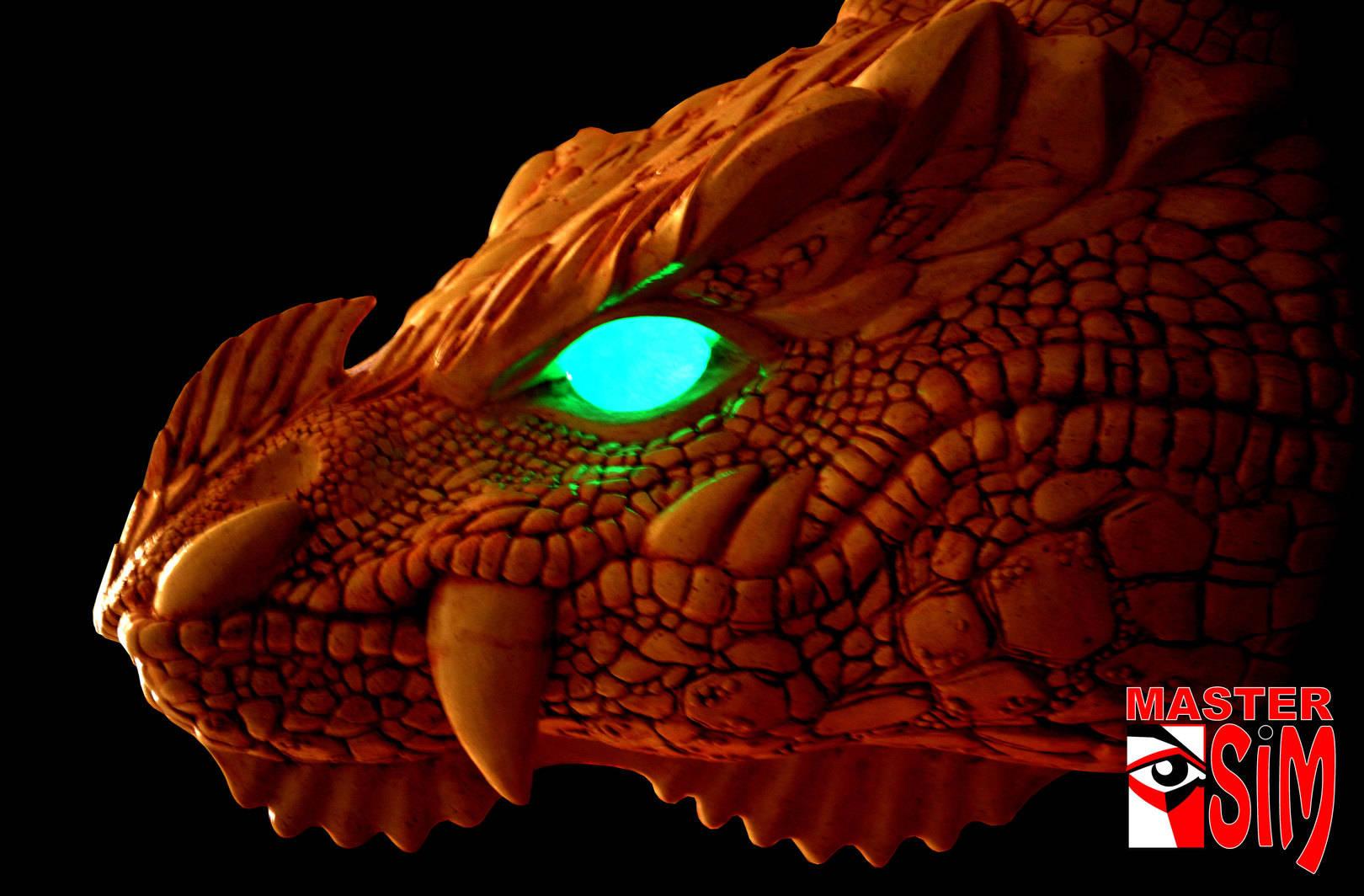 Голова Дракона для входной группы домов