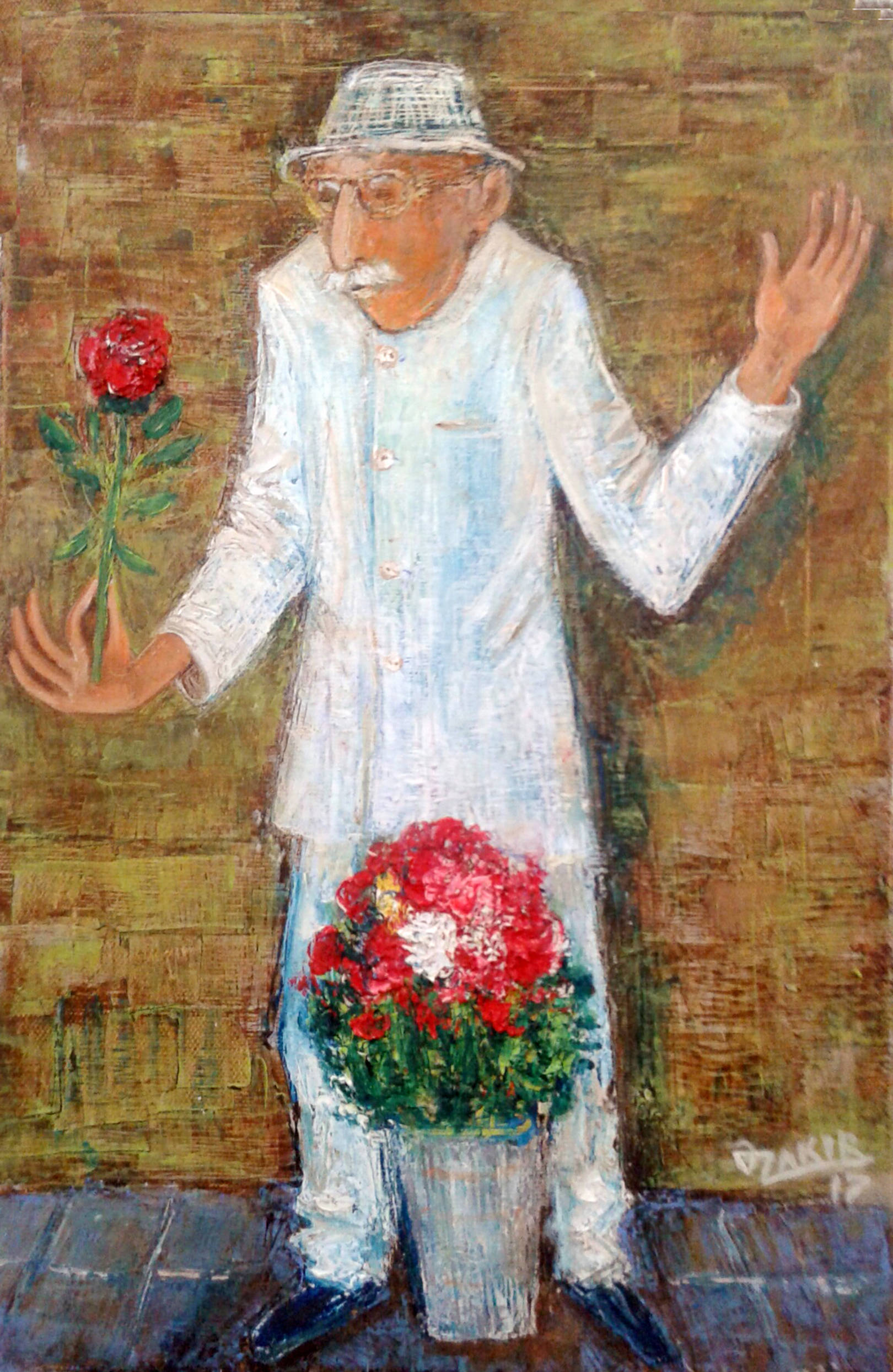 Flower seller2017year 45x30cmOriginal Painting Oil on Canvas2500$