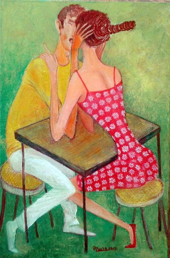 Love time 2017year 60x40cm Original Painting Oil on Canvas2500$
