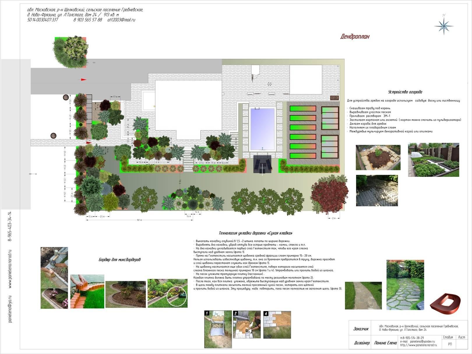 Проект ландшафтного дизайна участка 11 соток , г.Щёлково
