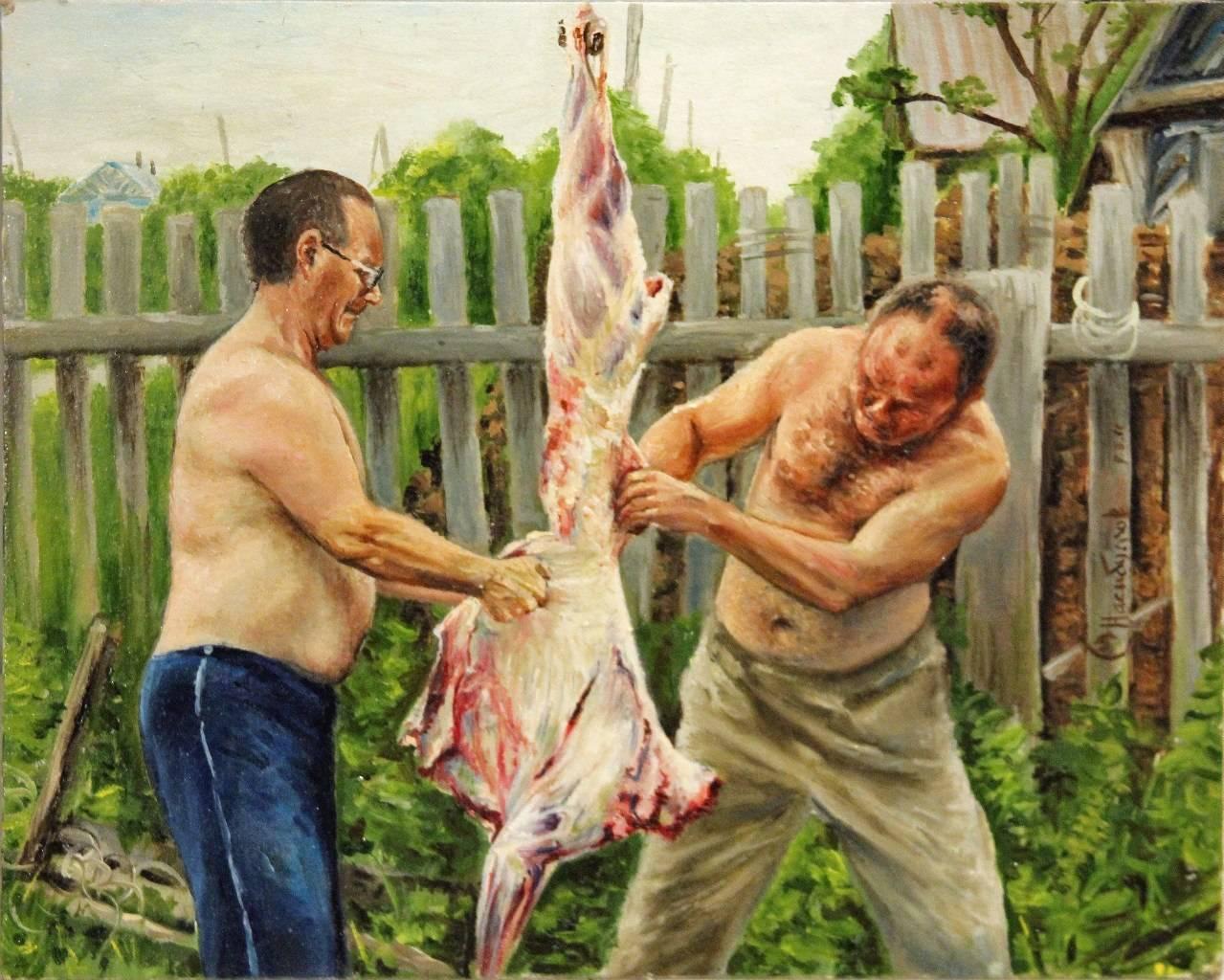 """""""Туша"""" (мясо №4)  30х24"""