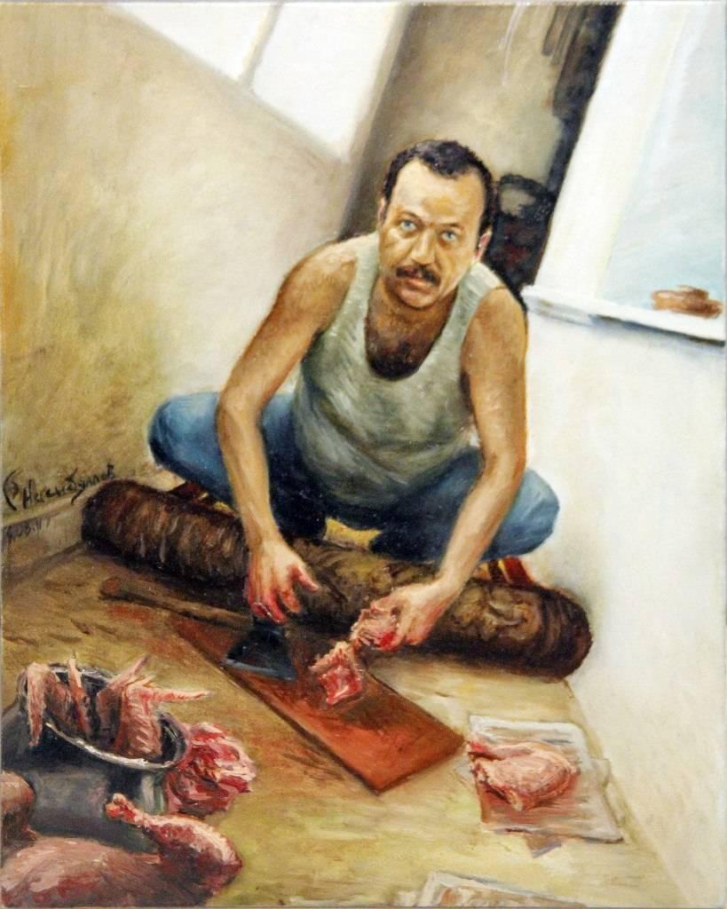 """""""На ужин индейка""""  (мясо №3) 24х30см"""