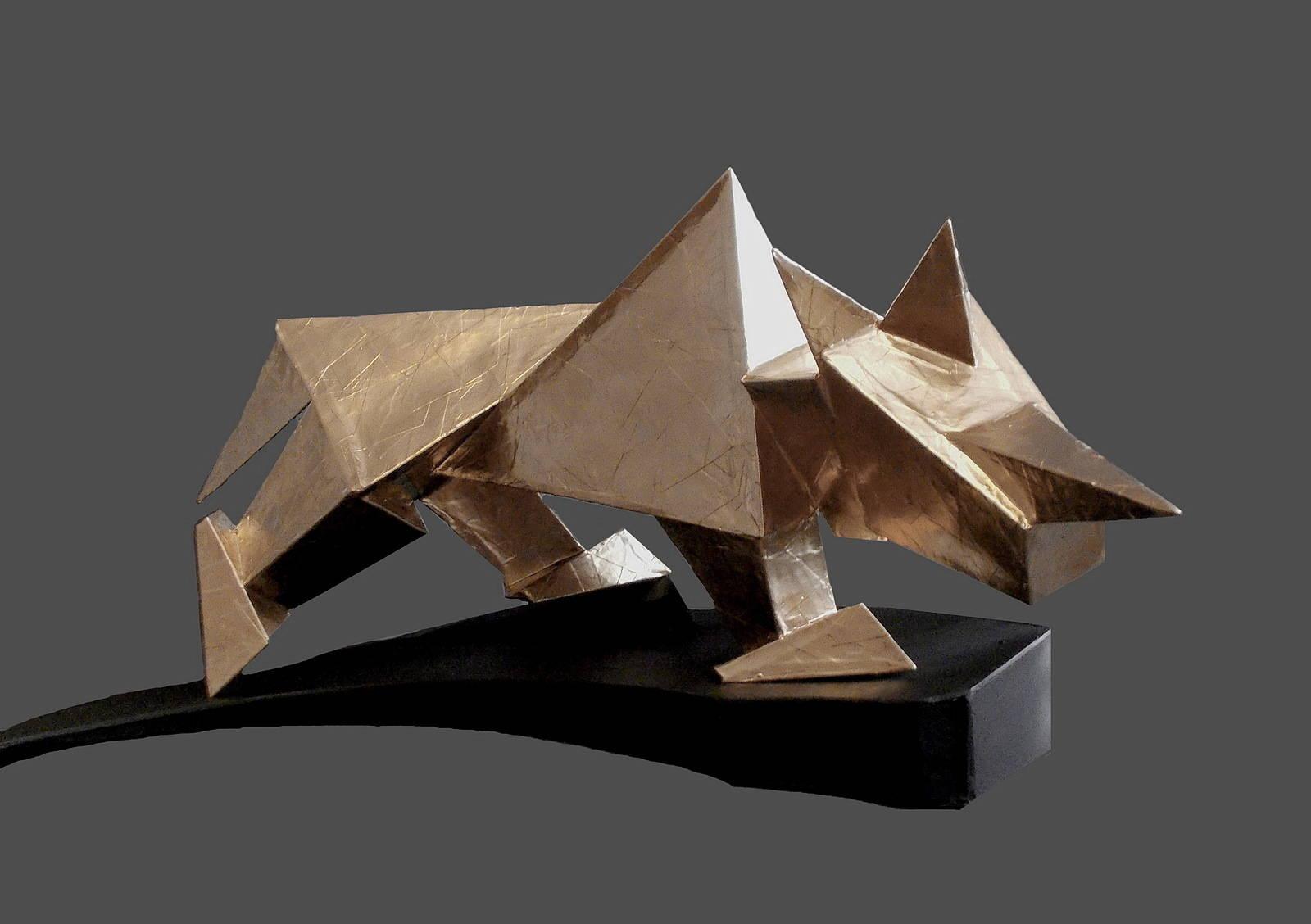 Носорог 30х 80х 50 см,  2017 г. скульптура-является моделью для будущей скульптуры в металле.