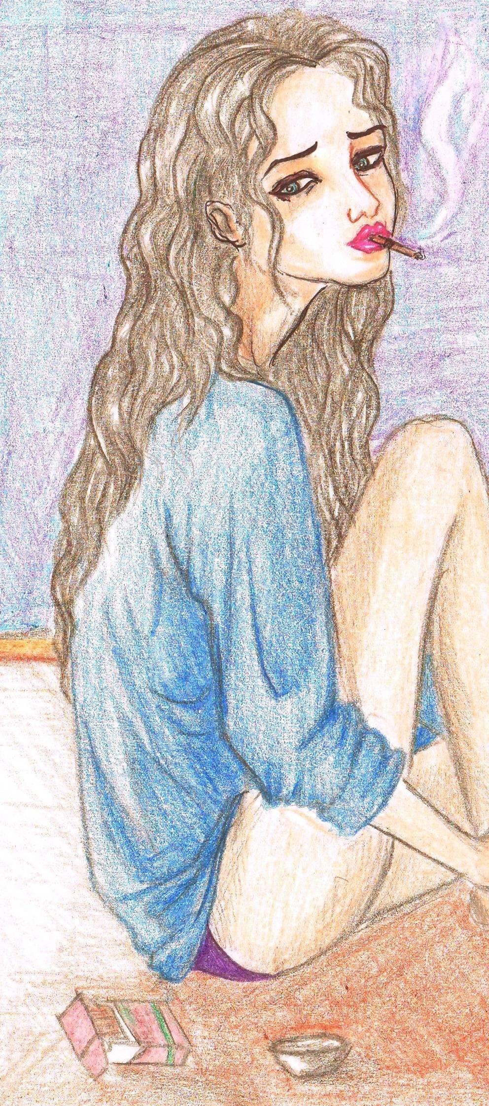 Девушка с сигаретой - депрессия