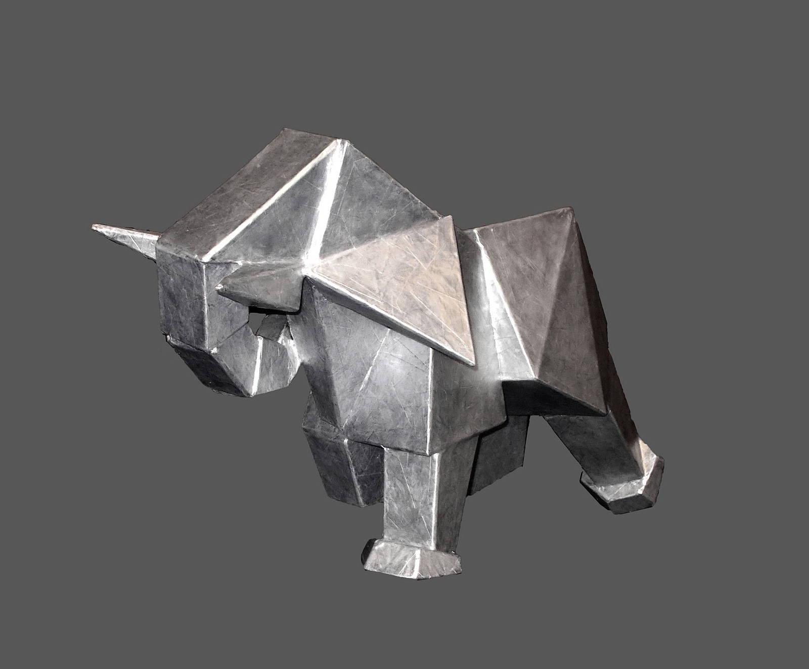 Слон  48х80х46 см,  2017 г.  скульптура-является моделью для будущей скульптуры в металле.