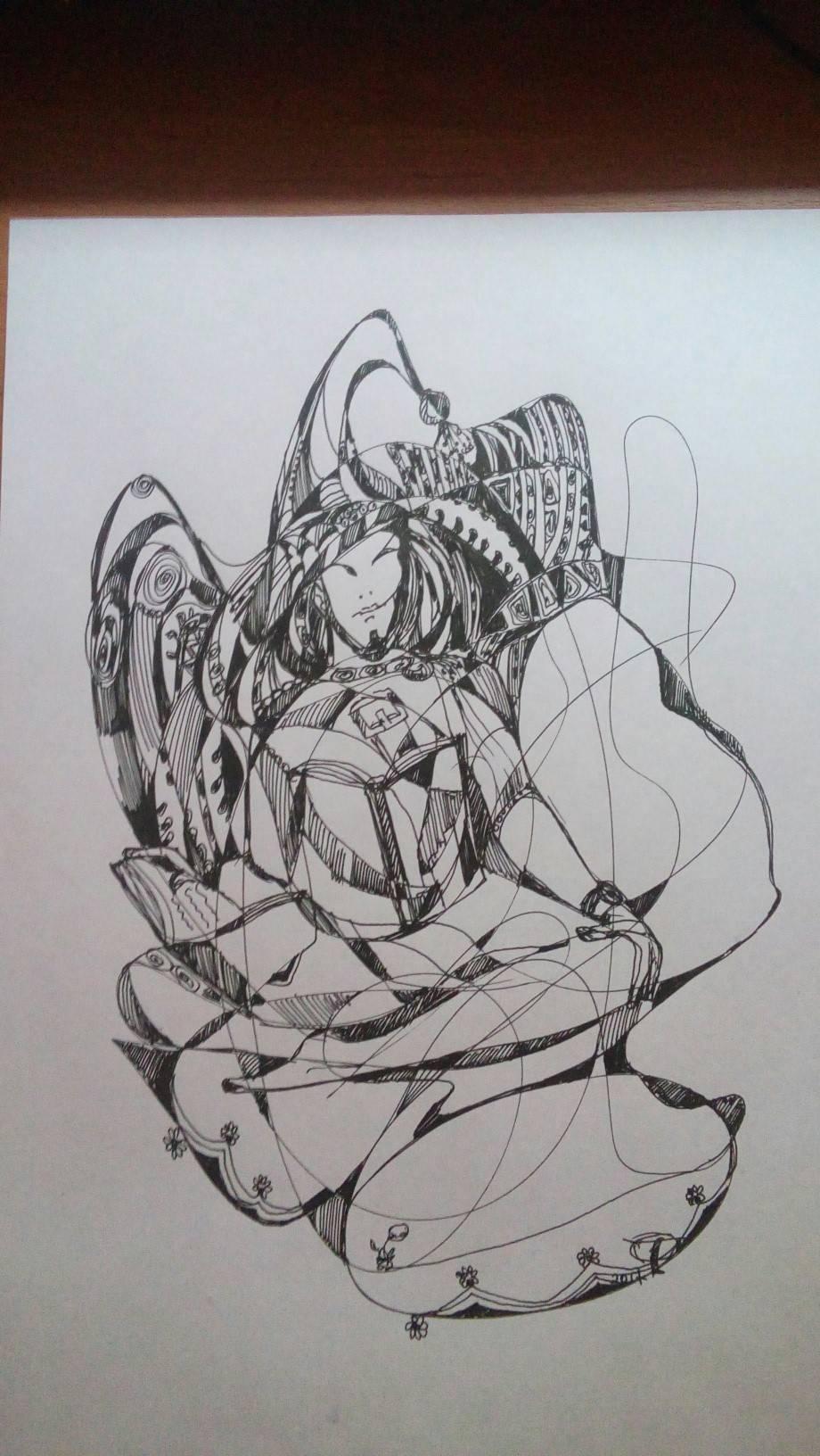 Образ в голове  Бумага , гелевая ручка формат А4