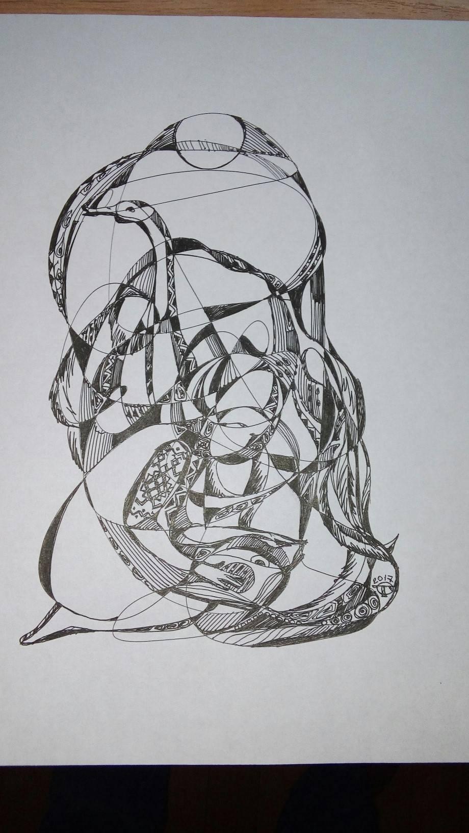 Единство и Гармония... Бумага , гелевая ручка формат А4
