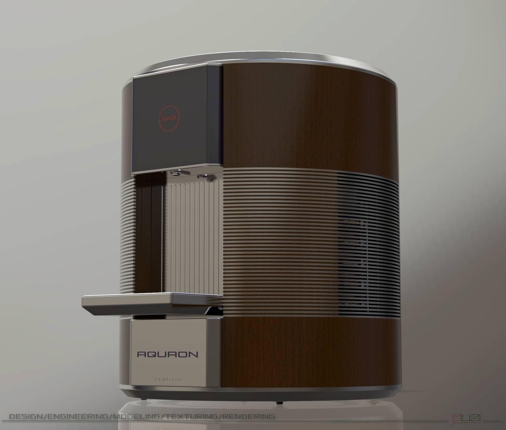 NPM Group  Промышленный дизайн, моделирование, визуализация.  AQUAON прибор приготовления талой воды