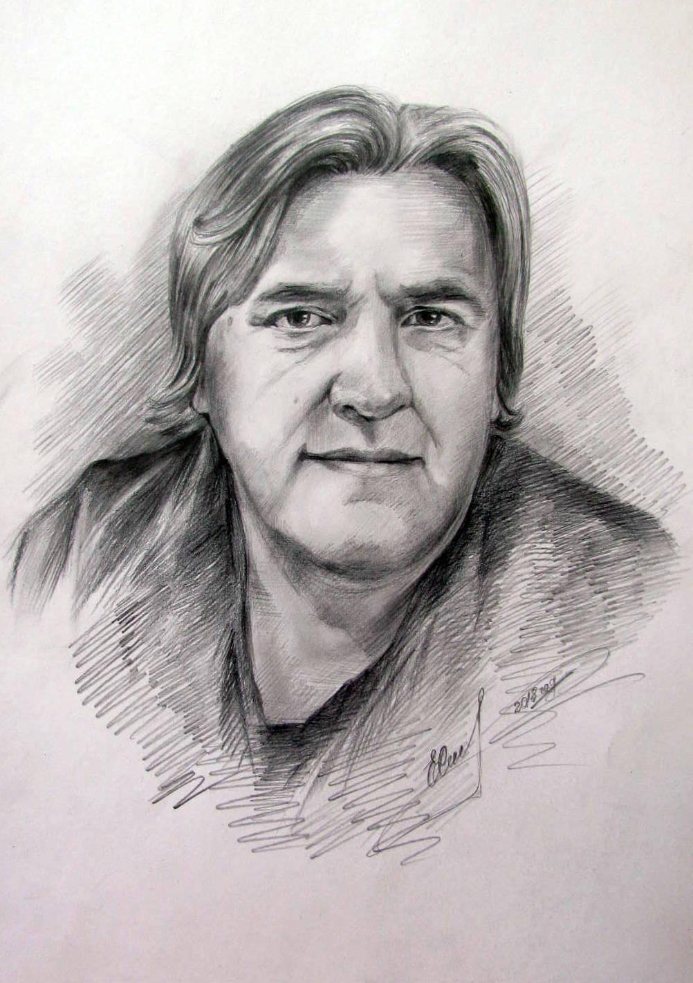 портрет Васильева, карандаш графитный