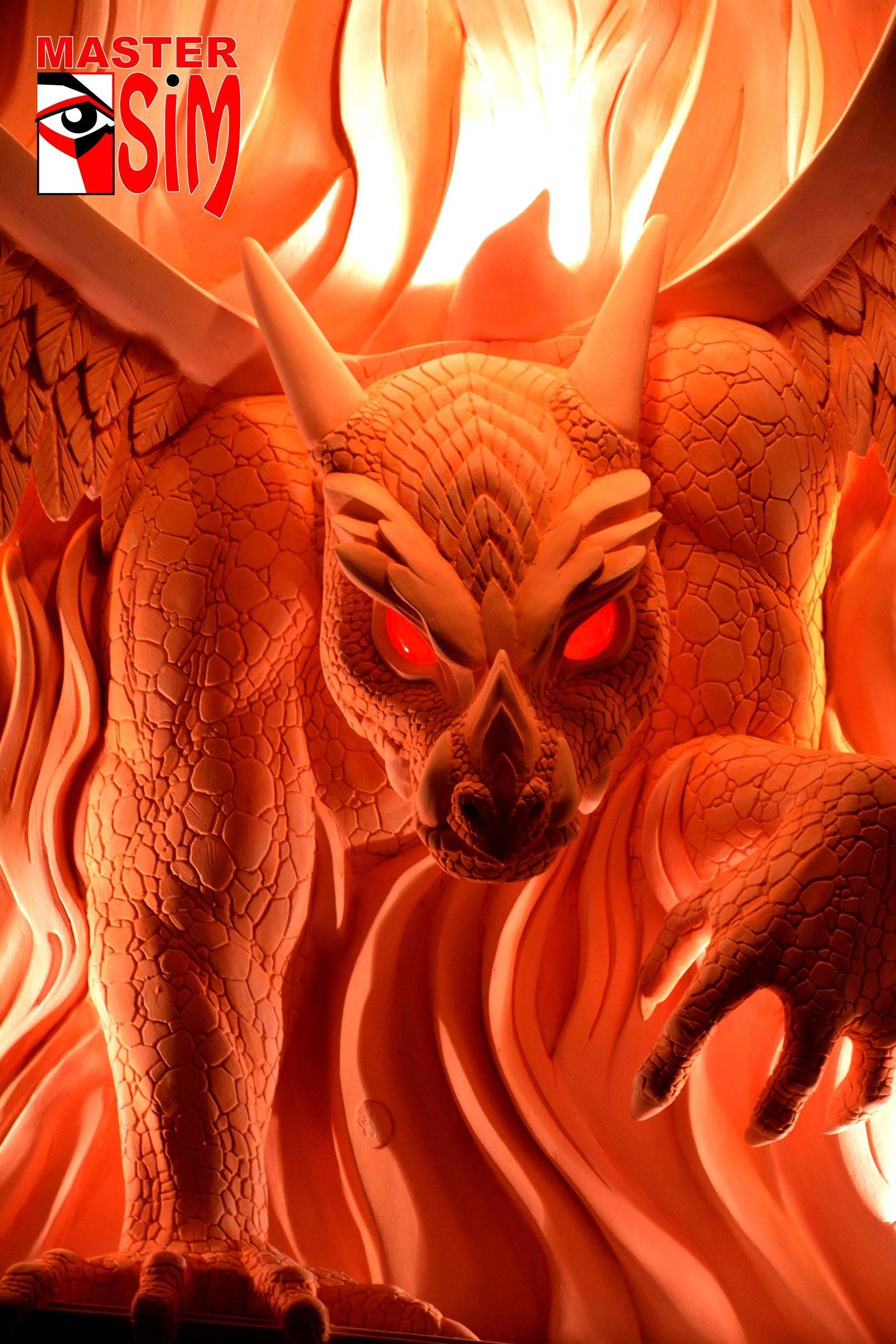 """Барельеф камина в частном доме  """"Огненный дракон"""""""