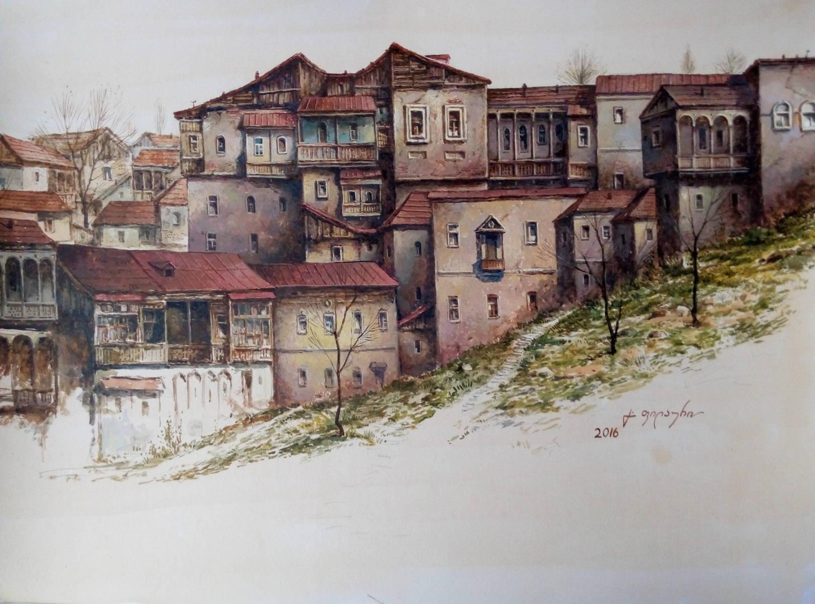 «Старый Тбилиси»     бумага, акварель, гуашь «Old Tbilisi»                  paper, aquarelle, gouache 37x49, 2016