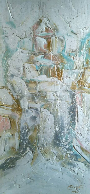 «Зимний город»            холст, масло «City in winter»              oil on canvas  70x30, 2015