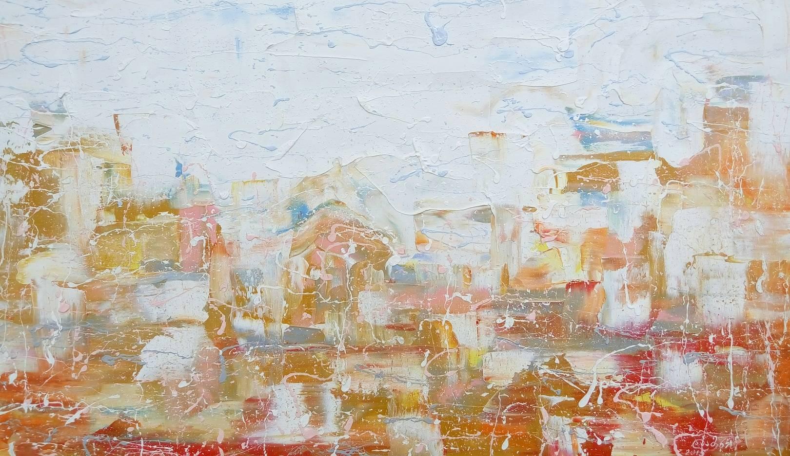 «Золотой город»           холст, масло «Golden City»                oil on canvas                                                  55x95,  2015