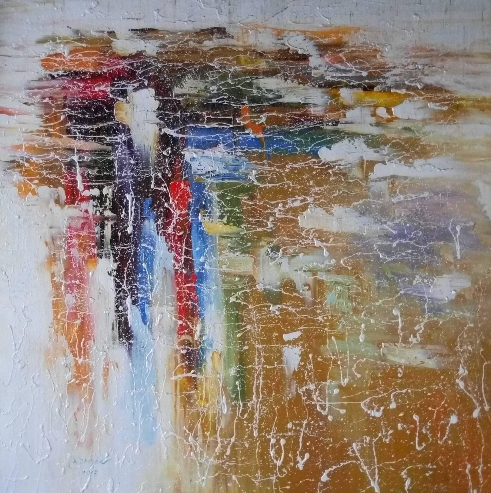 «Облака над городом»                           холст, масло «Clouds over the city»                             oil on canvas                                                 80x80,  2017