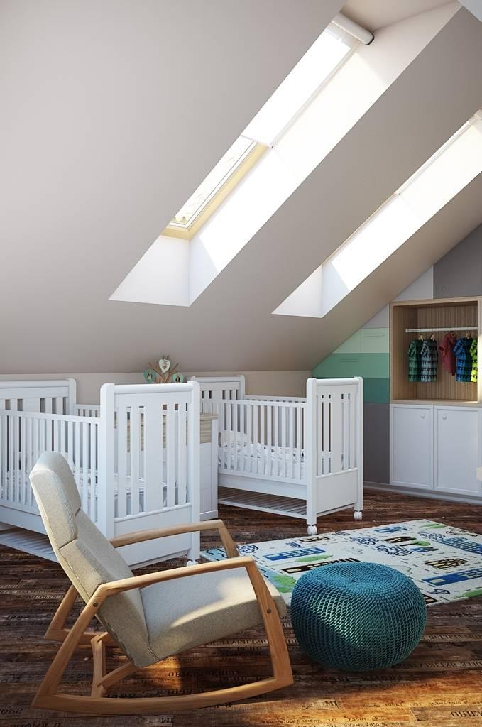 Необходимая мебель в детской комнате. На мой взгляд, в каждой детской должно быть место для отдыха мамы - например кресло качалка, которое будет помогать при кормлении и укладывания спать малыша.