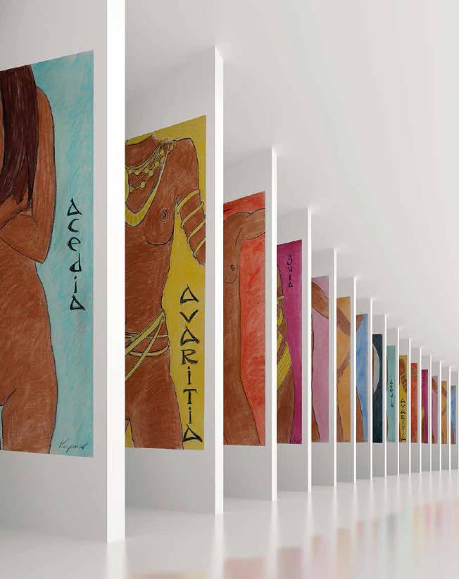 """Авторская серия графических работ """"СЕМЬ СМЕРТНЫХ ГРЕХОВ"""". Пастель///""""Author's series of graphic works """"THE SEVEN DEADLY SINS"""". Pastel"""