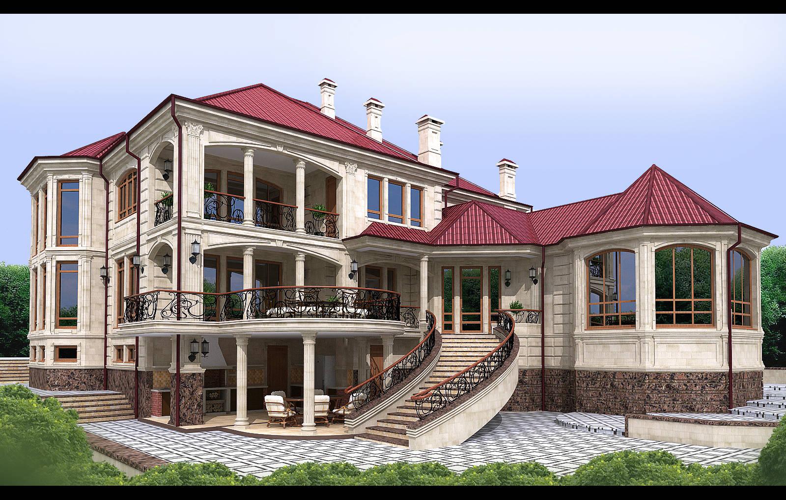 Ландшафт территории жилого дома
