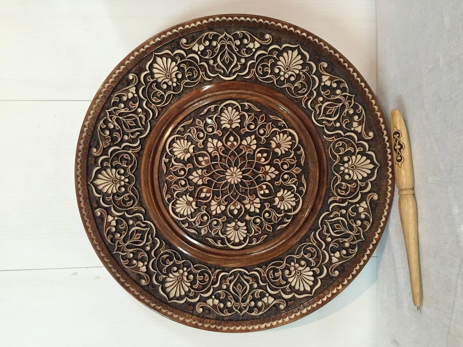 Резной ляган (тарелка)