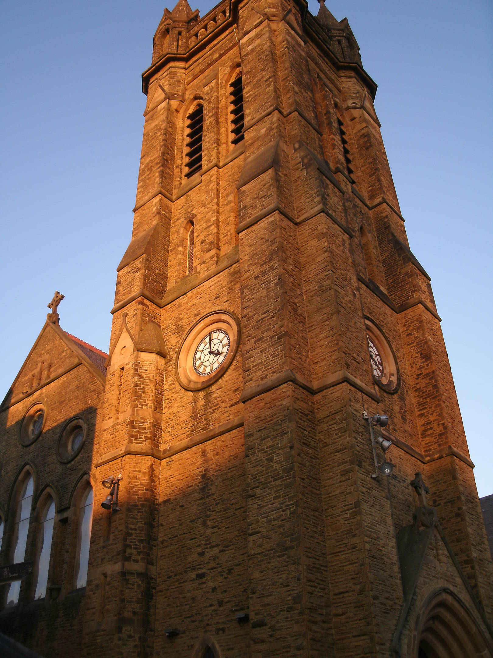 This is St John's Parish Church Blackpool Town Centre. One evening just as the sun was setting.