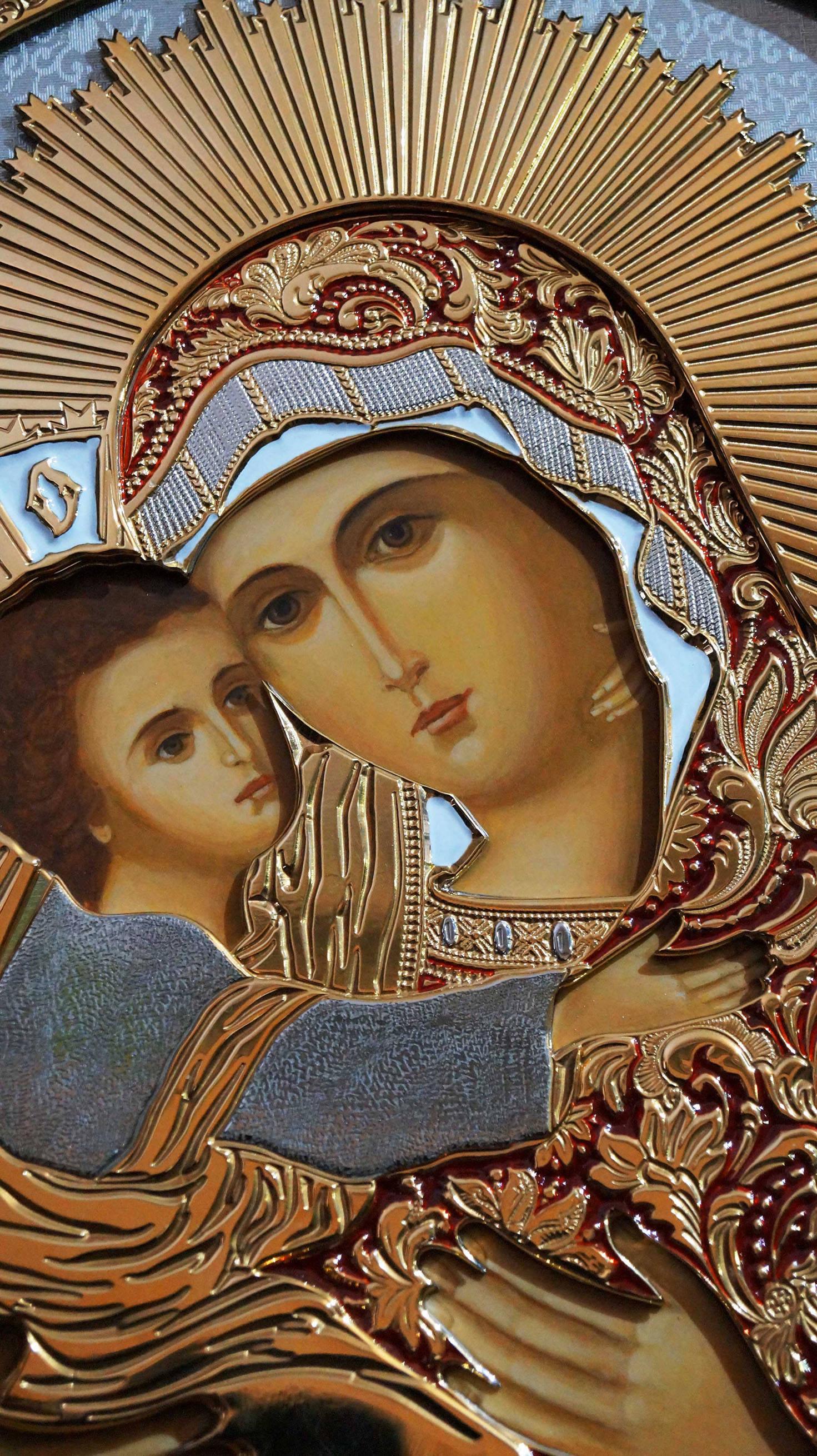 Икона Владимирской Превятый Богородицы(фрагмент)