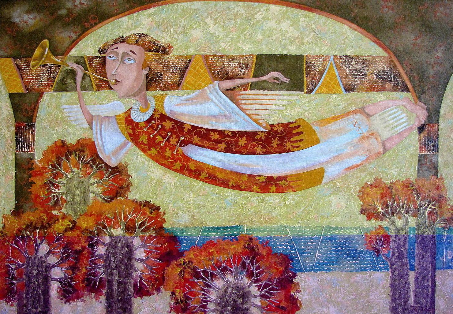 """""""Осенний ангел"""", холст/масло, 60/80."""