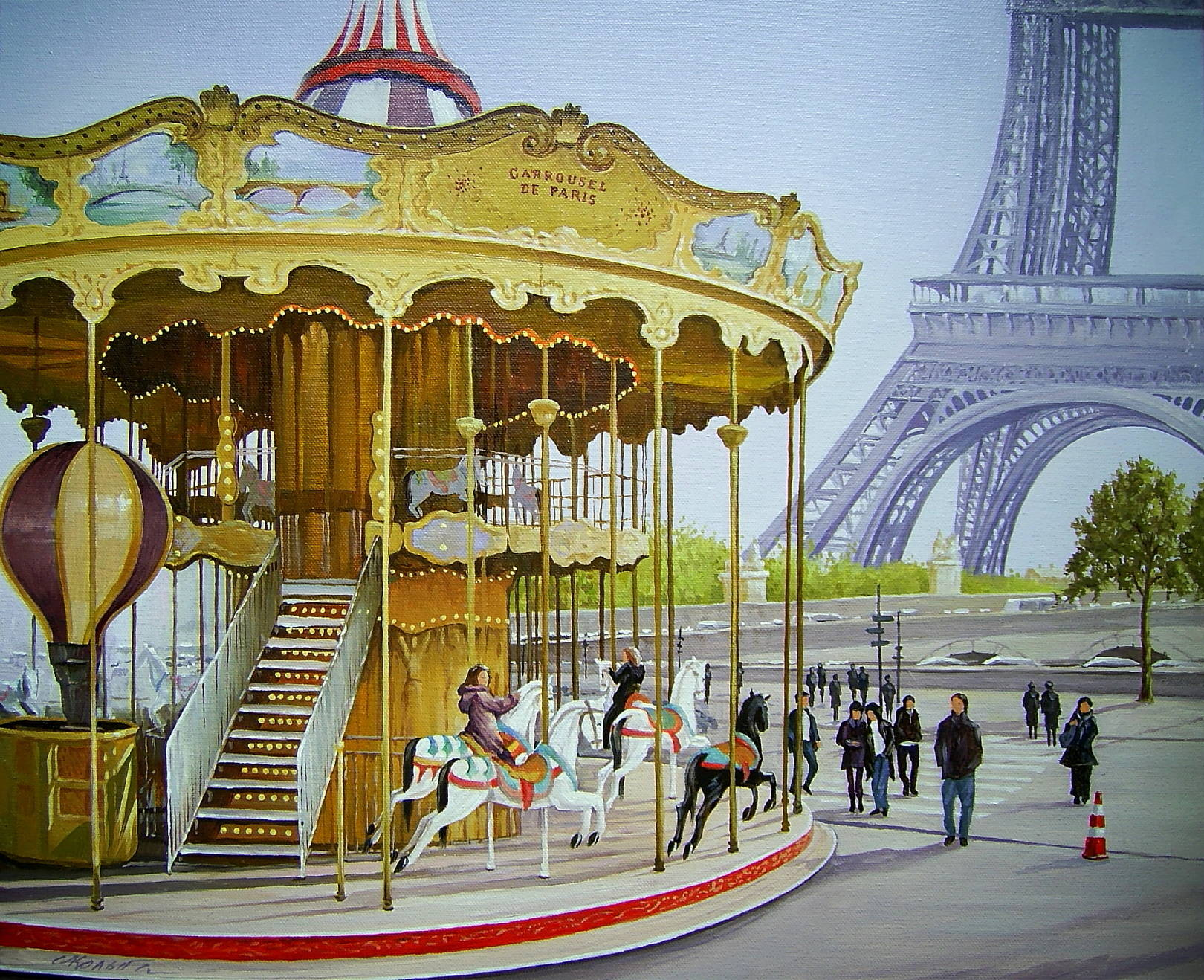 Carrousel de Paris. 50 х 60 см, холст, масло, 2018