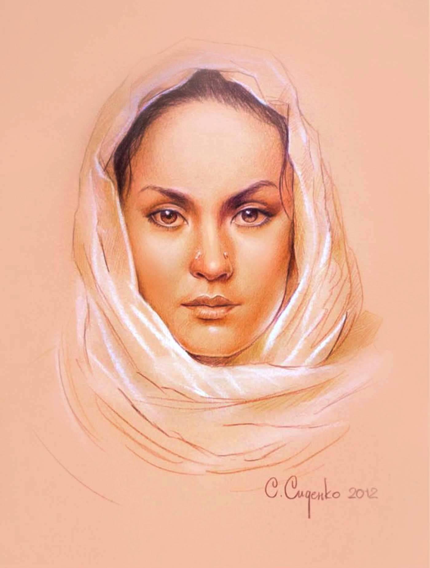 """Амалия"" (картон,пастель) 30х40см,2012 г."