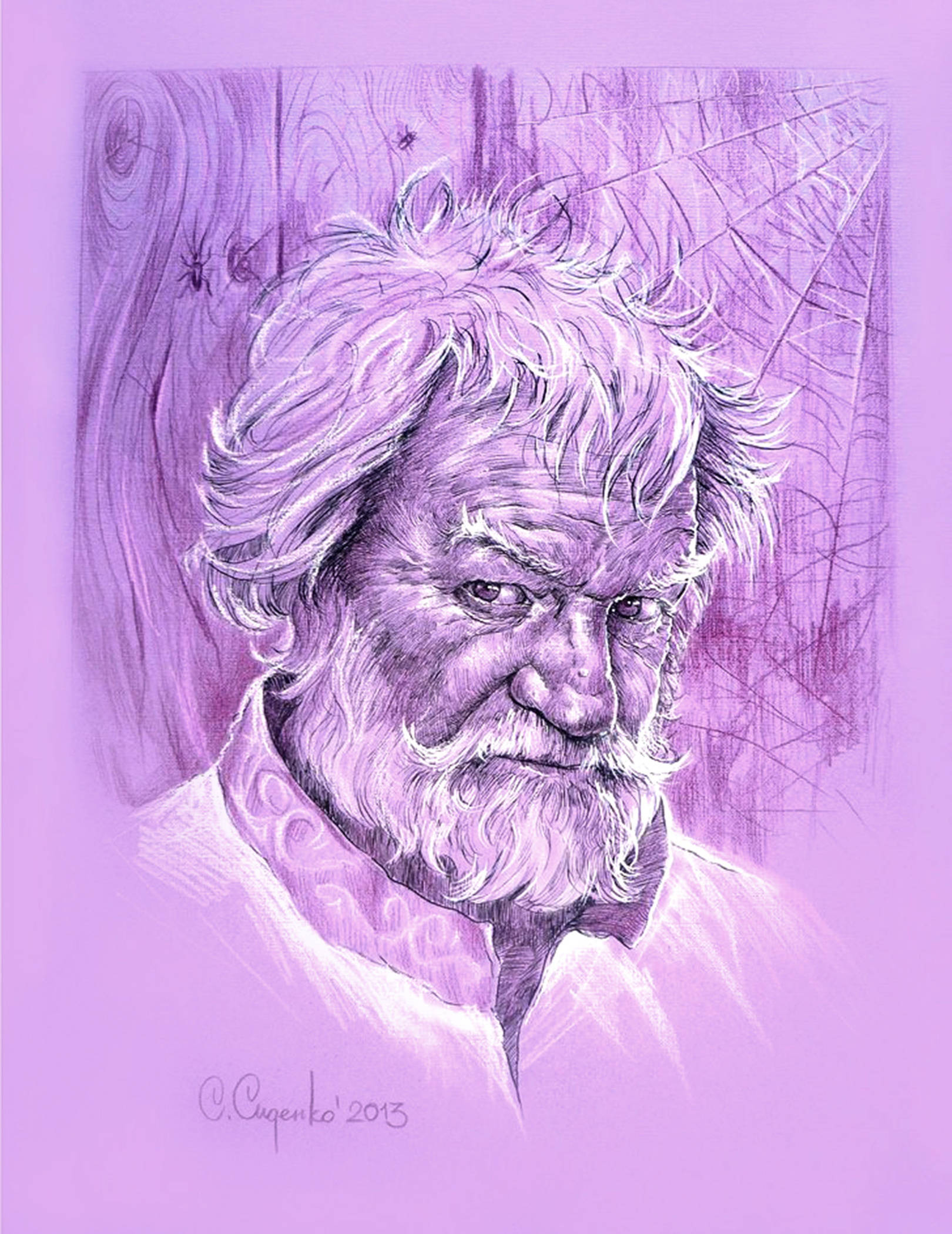 """""""Домовой"""" (картон,пастель) 30х40см,2014 г."""