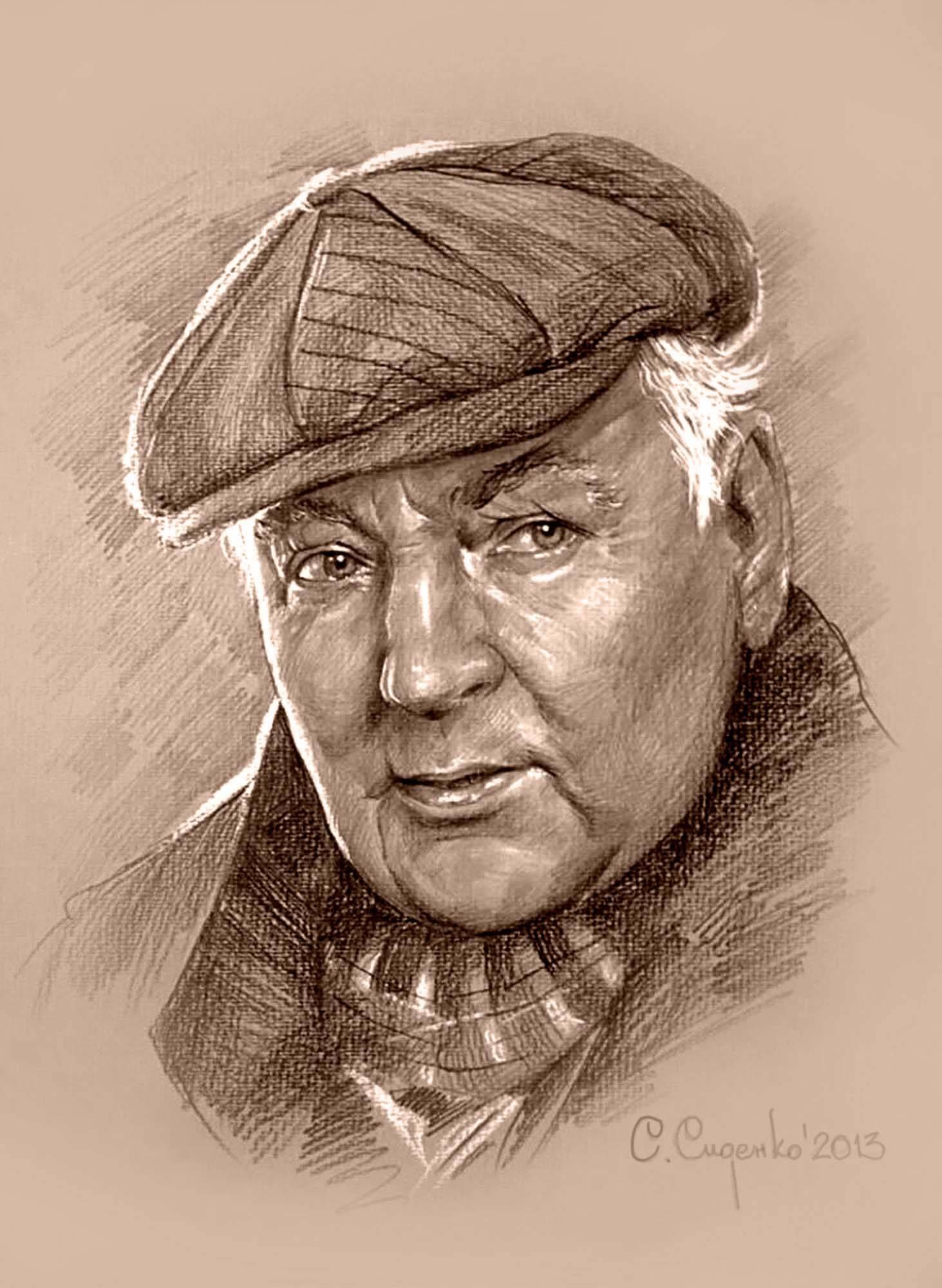 """""""Портрет М. М. Державина"""" (картон/карандаш,пастель) 35х45см, 2013 г."""