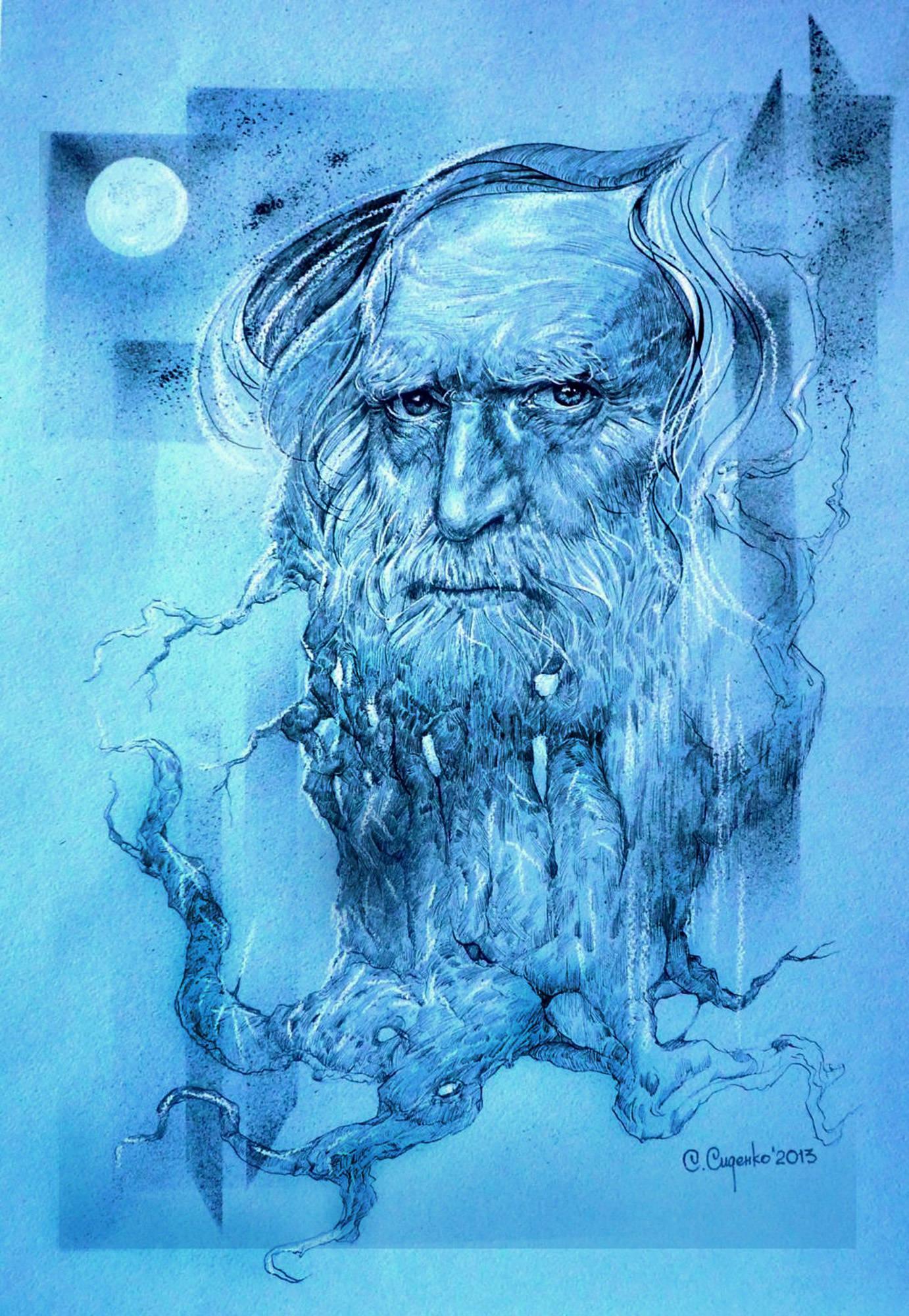 """""""Святобор"""" (картон/карандаш,пастель) 50х70см, 2013 г."""