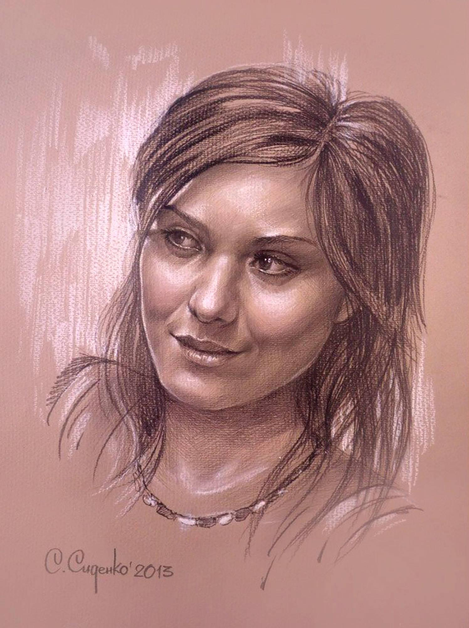 """""""Софья"""" (картон/карандаш,пастель) 35х45см, 2013 г."""