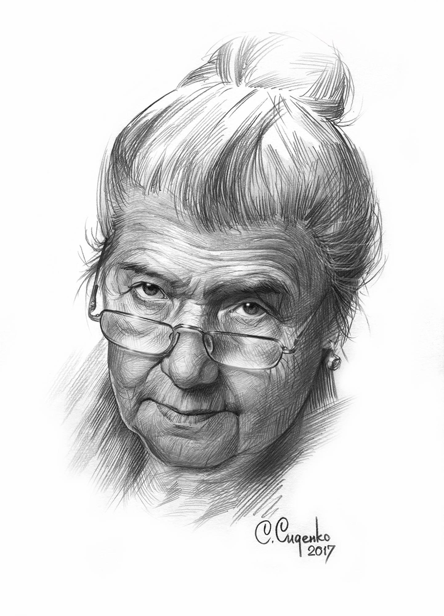 """Женский портрет"" (бумага/карандаш) 20х30см, 2017 г."