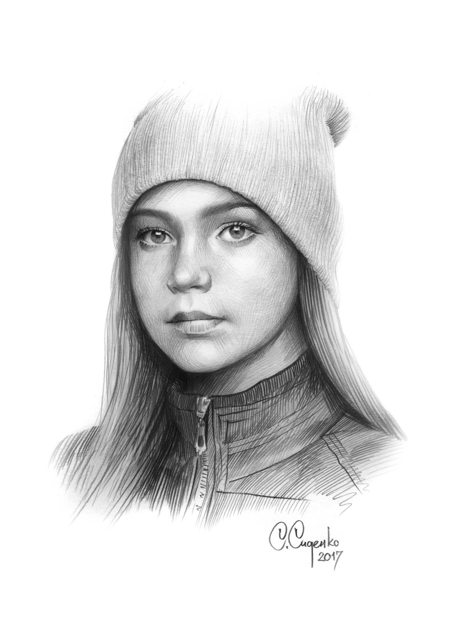 """""""Серые глаза"""" (бумага/карандаш) 20х30см, 2017 г."""