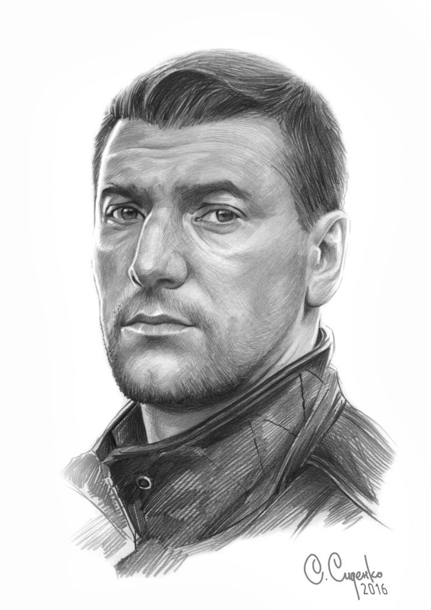 """Портрет А. Устюгова"" (бумага/карандаш) 20х30см, 2016 г."