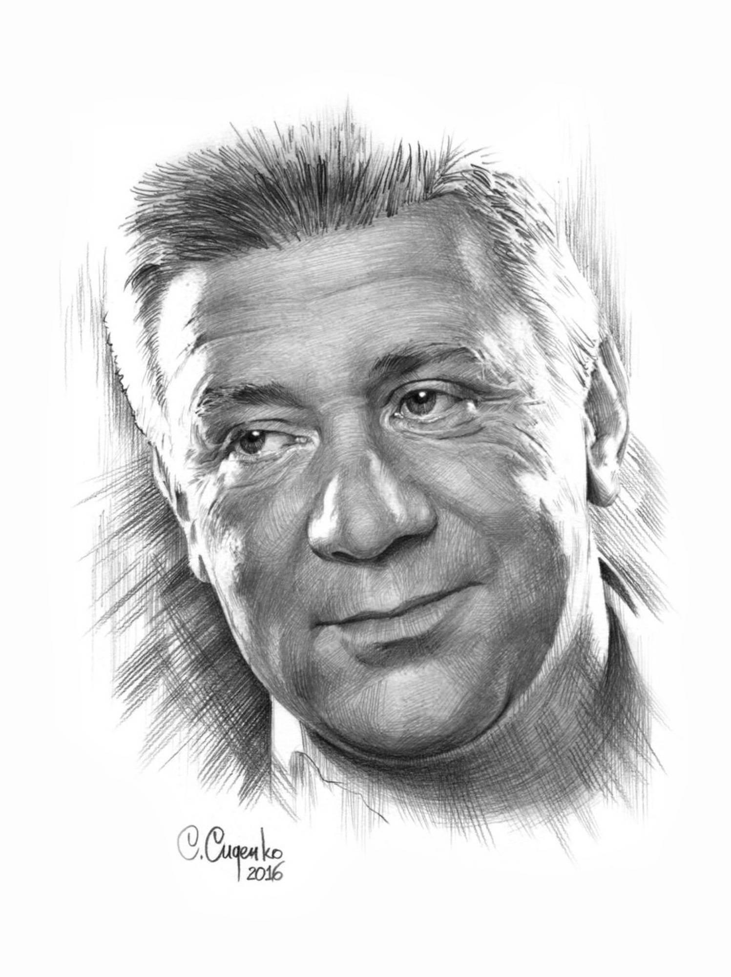 """""""Портрет А. Краско""""  (бумага/карандаш) 20х30см, 2016 г."""
