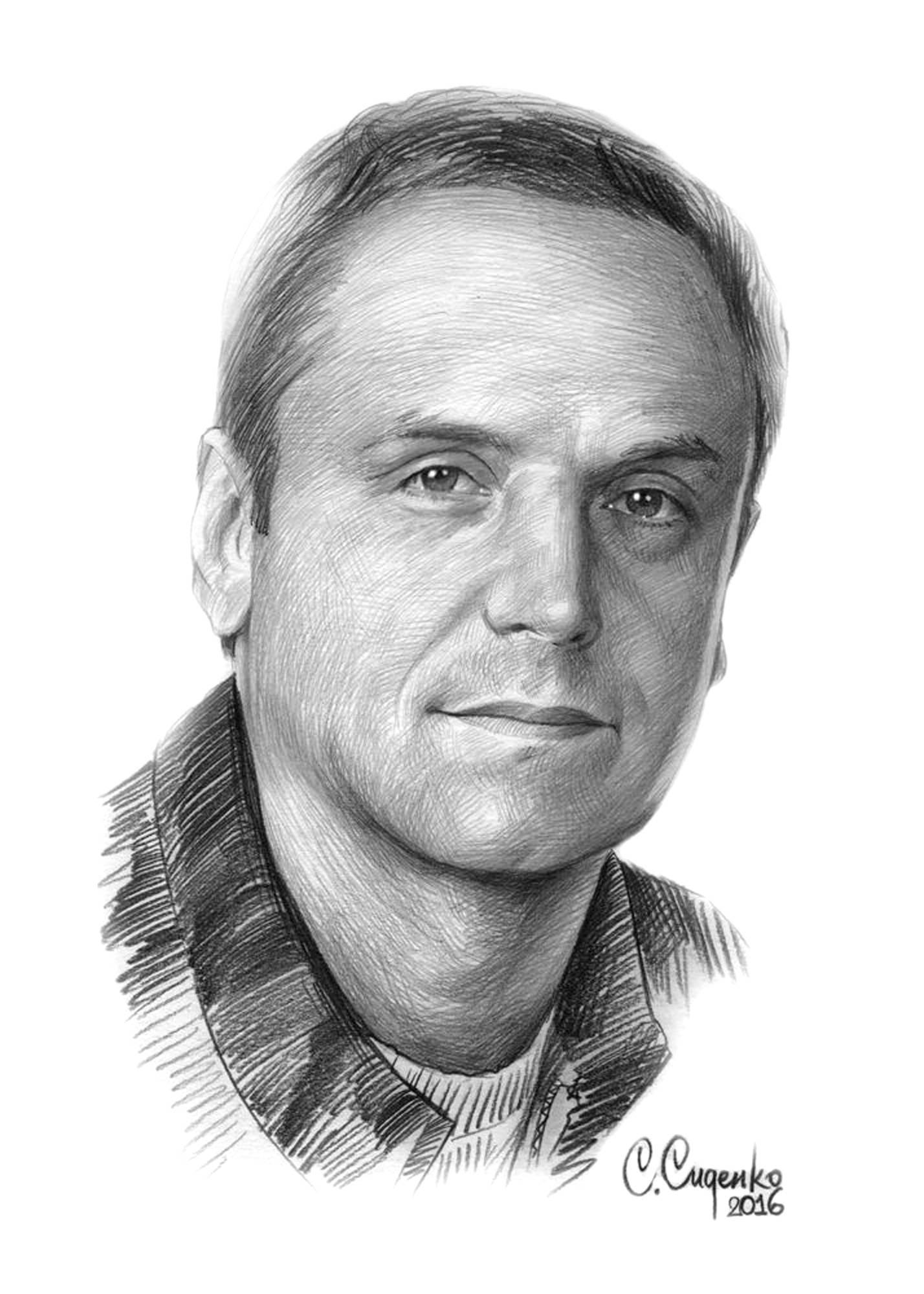 """Портрет А.Соколова"" (бумага/карандаш) 20х30см, 2016 г."