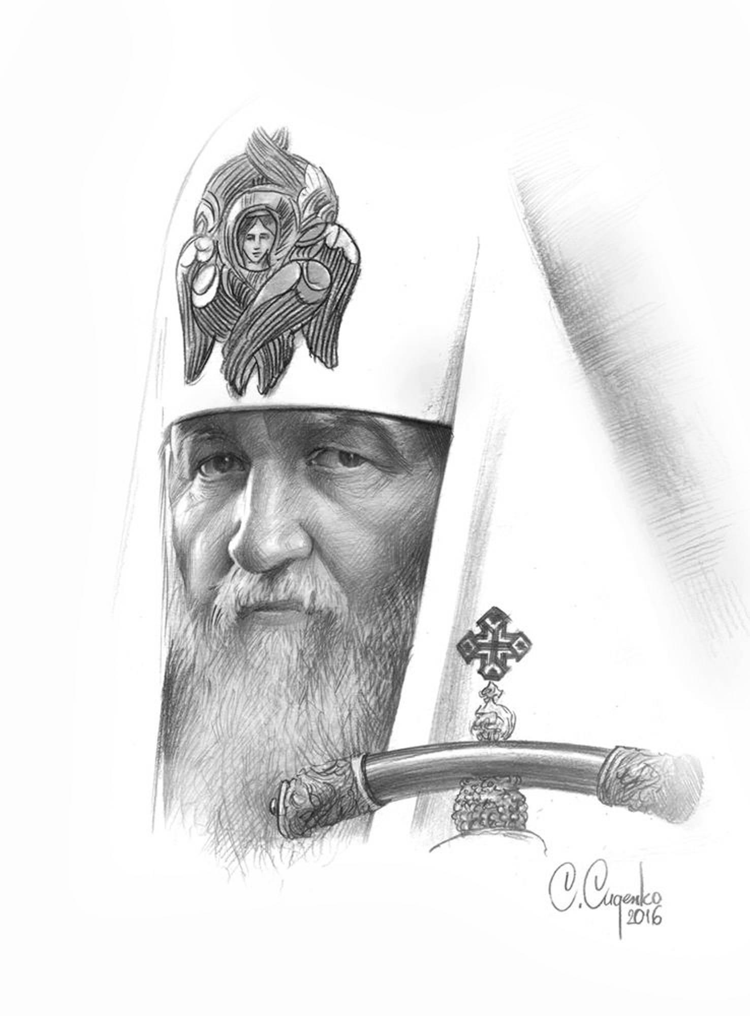 """""""Патриарх"""" (бумага/карандаш) 20х30см, 2017 г."""