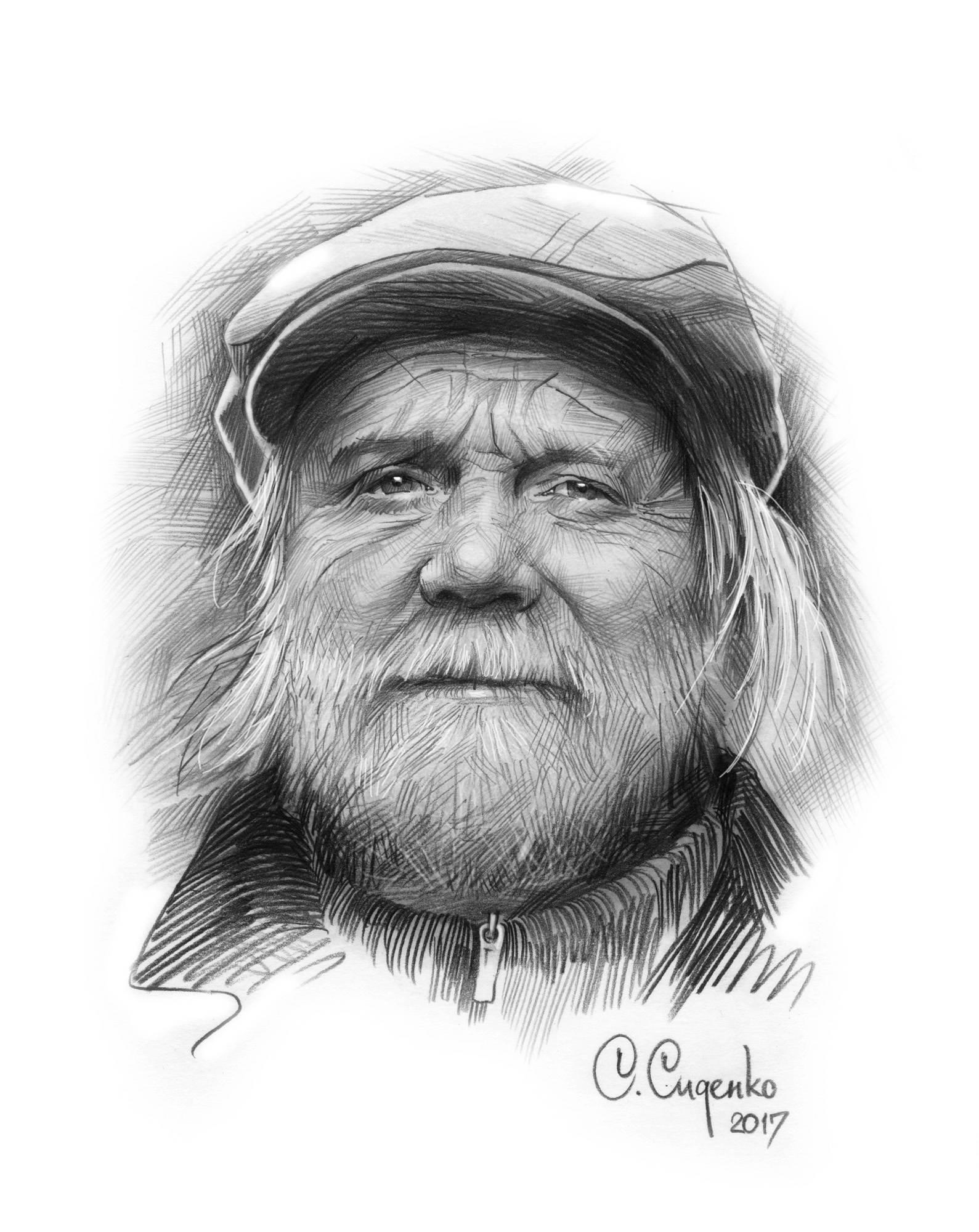 """""""Человек без адреса"""" (бумага/карандаш) 20х30см, 2017 г."""