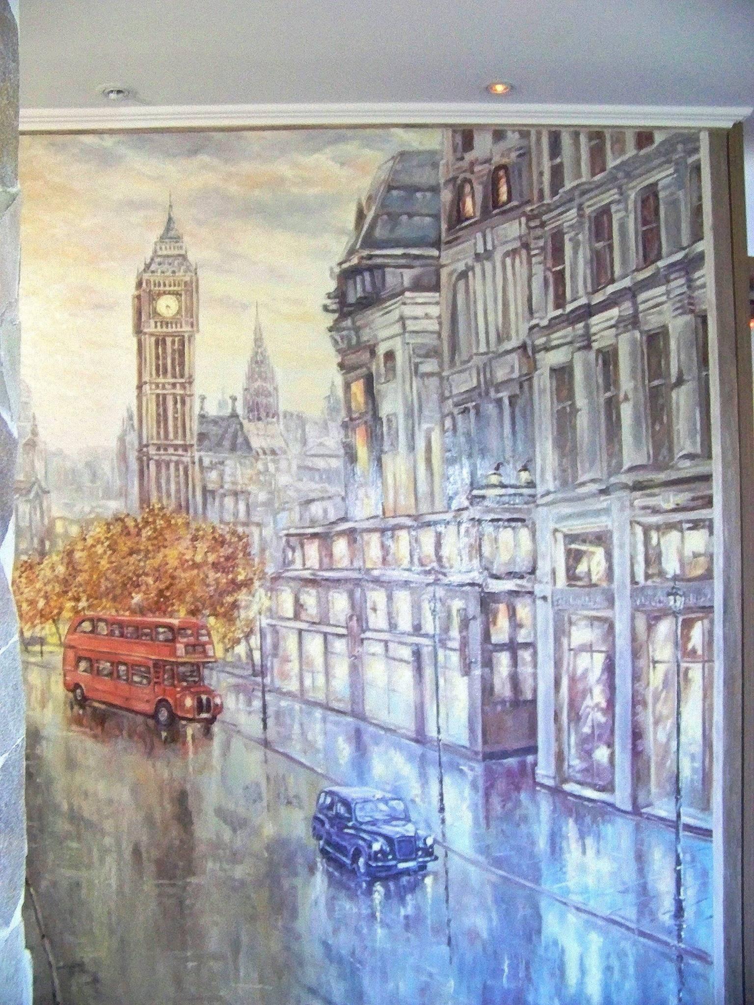 """Роспись стены,""""Лондон"""","""