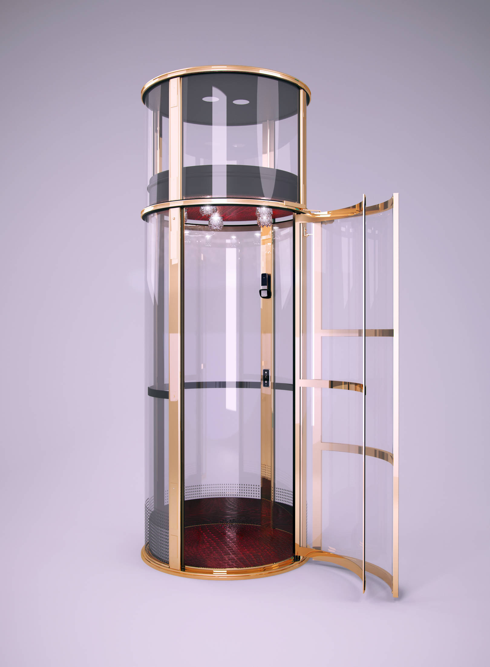 Лифт вакуумный золото(v-ray)