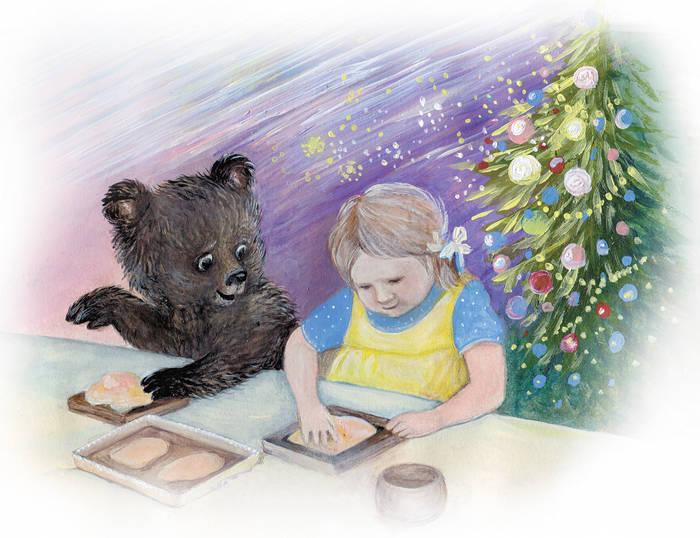 """Иллюстрация к сказке """" Про мишку""""2"""