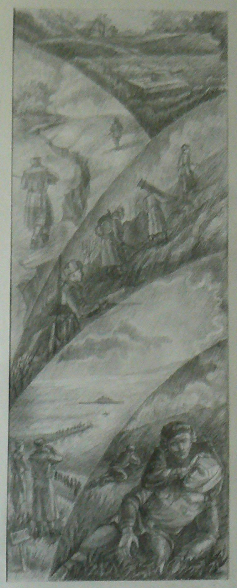 Герои войны 1945. Левая часть триптиха