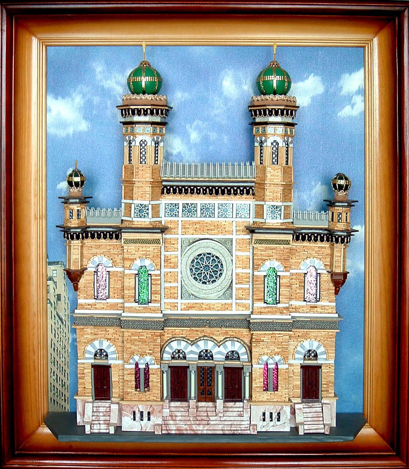 Нью Йорк.Центральная синагога.Картина из спичек.